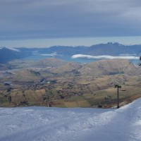 The view from half way down Coronet Peak ski field