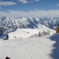 Not a bad view from the top of the ski field Coronet Peak