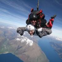 Tandem skydiving ...