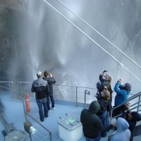 Up close and personal with a waterfall in Milford Sound